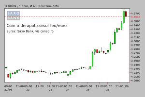 Cât creşte euro? BNR a pierdut frâiele sau o face pe mortul?