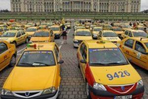 """Protestul taximetriştilor: """"Vrem să fim şomeri sau măcar să ne tăiaţi veniturile"""""""