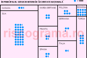 Cât de mare este SRI faţă de serviciile din alte ţări
