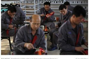 Industria textilă plătește salarii nord-coreene